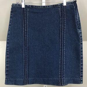 Calvin Klein Jeans Denim Skirt Pintucks size 4